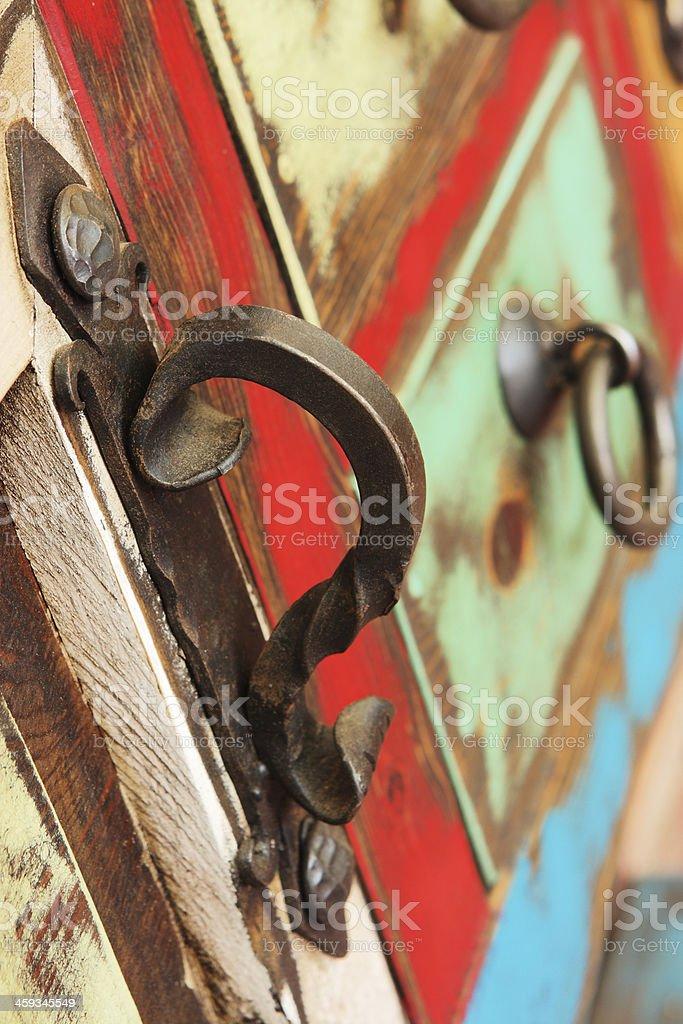 Cabinet Door Handle Furniture Decor stock photo