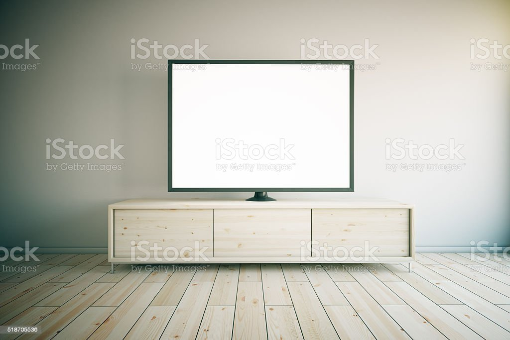 TV cabinet light stock photo
