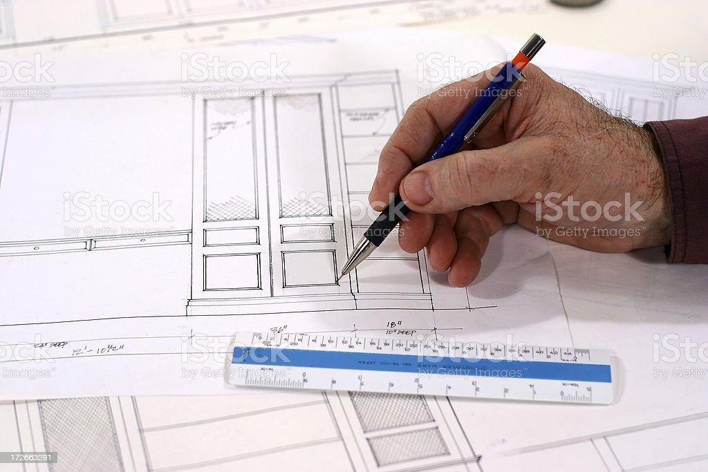 Cabinet Maker - Custom Design 1 royalty-free stock photo
