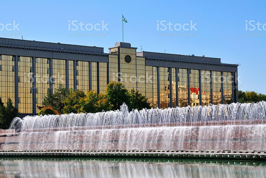 Cabinet of Ministers in Tashkent stock photo