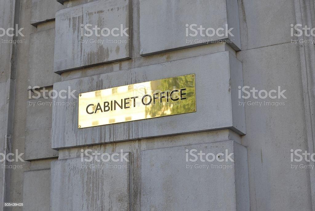 Cabinet Offfice Sign, London stock photo