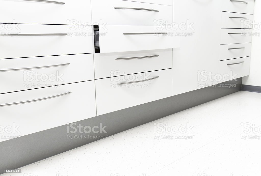 Cabinet with one open Drawer royalty-free stock photo