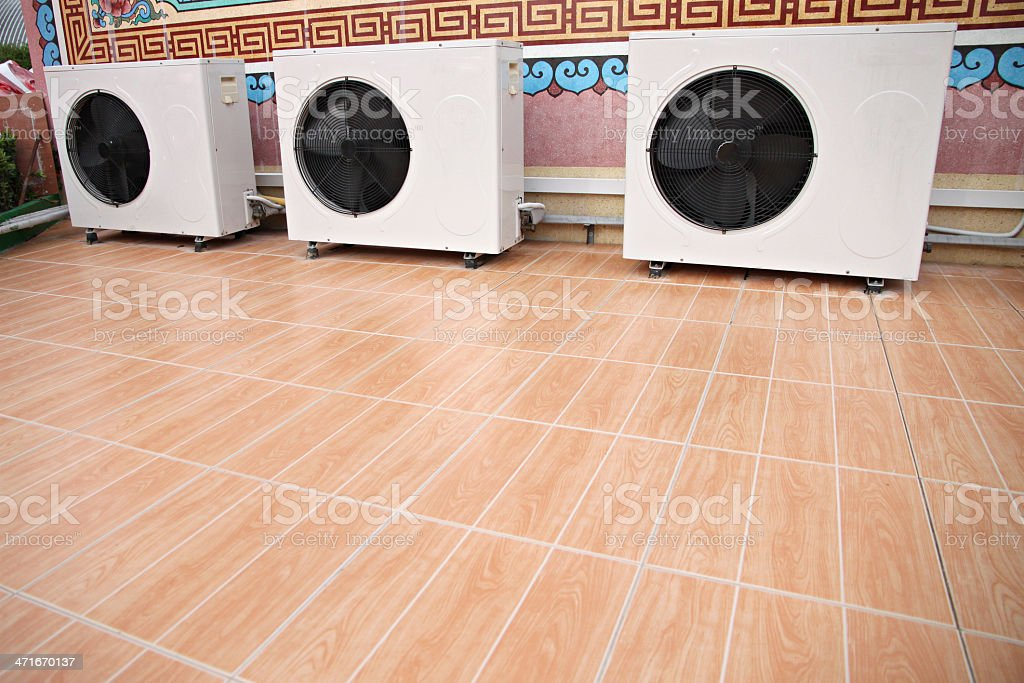 Cabinets air of conditioner. royalty-free stock photo