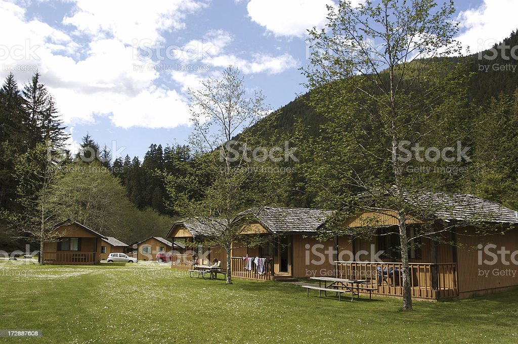 Cabins At Mountain Resort royalty-free stock photo