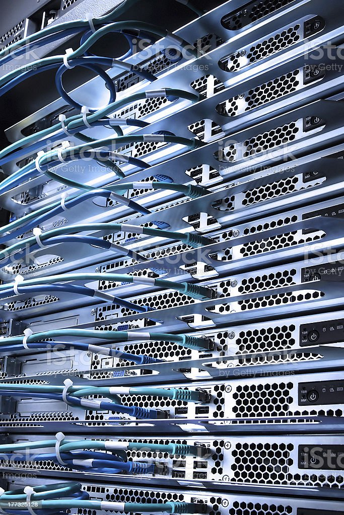 cable and servers royalty-free stock photo
