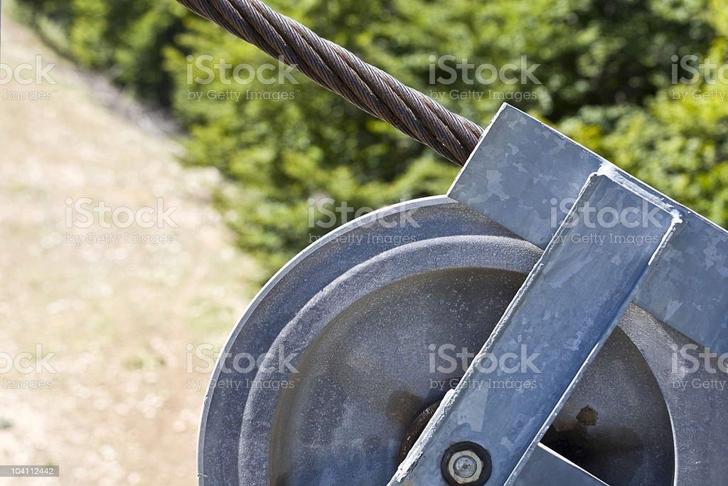 Cable and wheel royalty-free stock photo