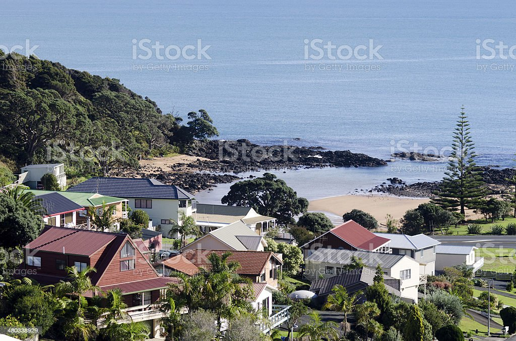 Cable bay - New Zealand stock photo