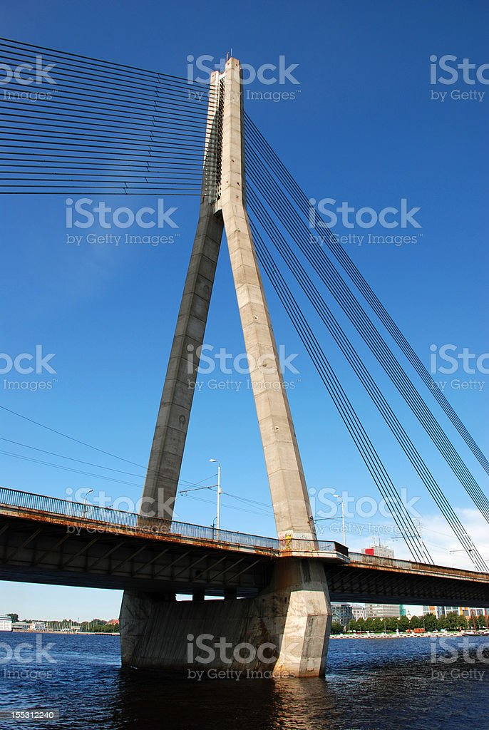 Cable bridge royalty-free stock photo