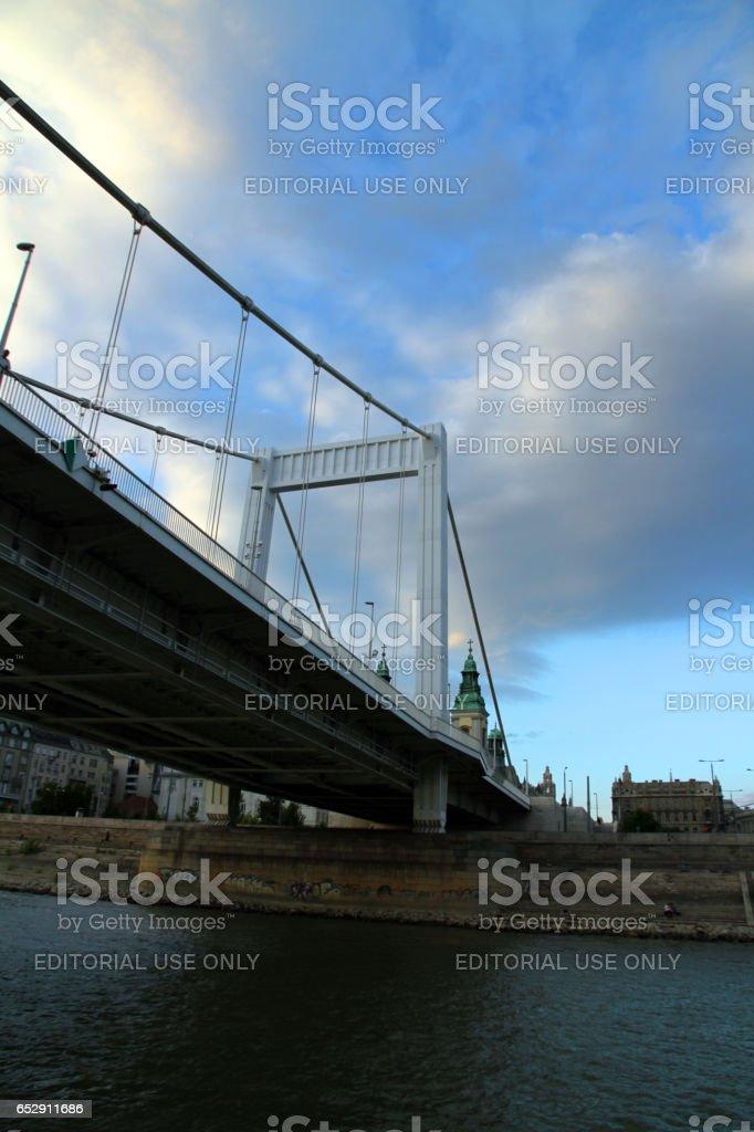 Cable Bridge stock photo