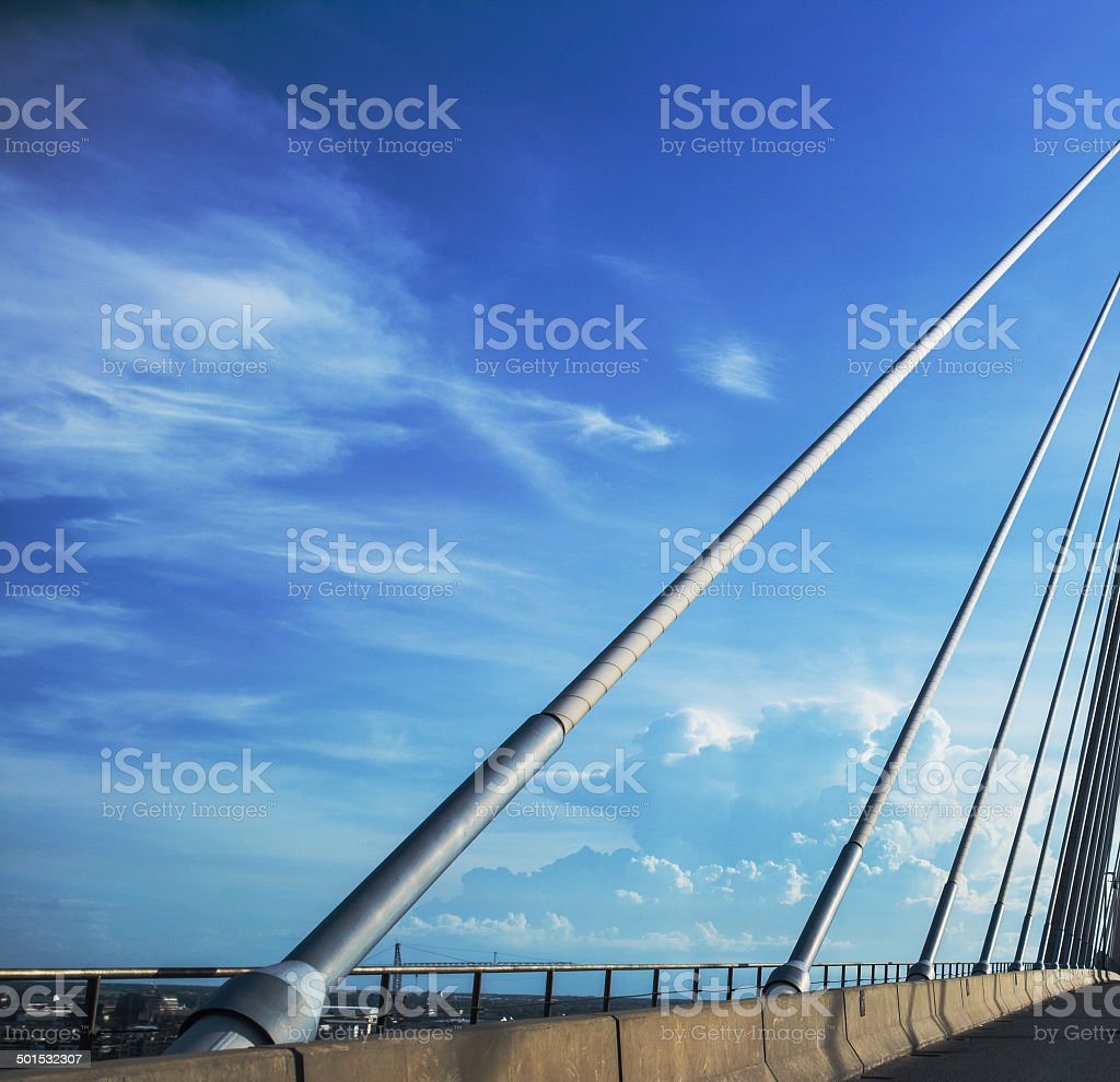 Cable Bridge,Bangkok,Thailand stock photo
