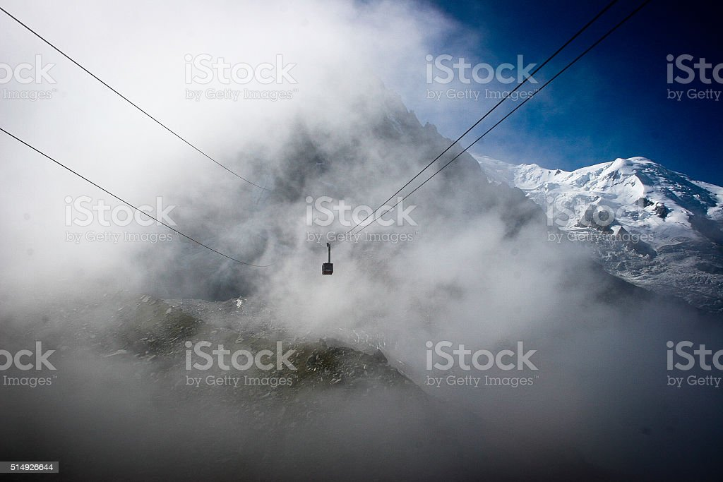 Cable Car, Alps stock photo