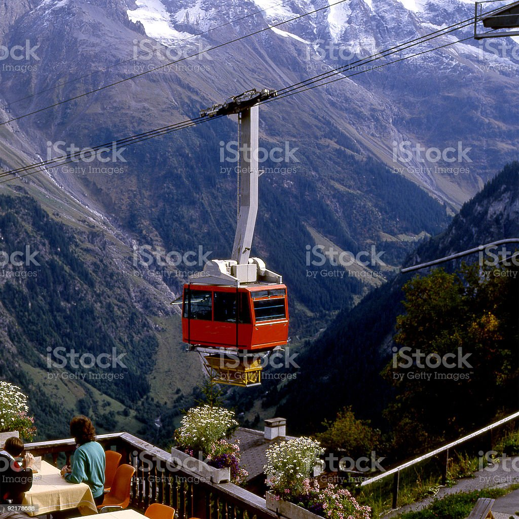 Cable Car at Murren. Switzerland royalty-free stock photo