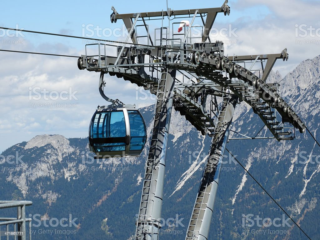 cable car Austria in sommer royalty-free stock photo