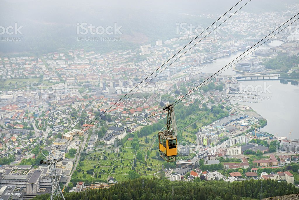 Cable Car, Bergen stock photo