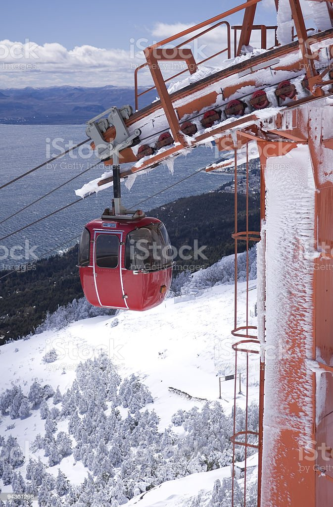 Cable car cabin stock photo