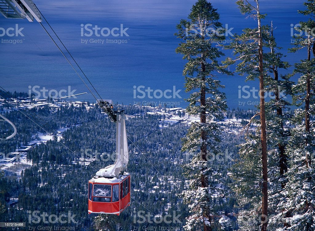 Cable Car Climbing up royalty-free stock photo
