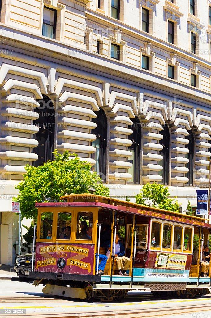 Cable Car Fairmont California Street San Francisco stock photo