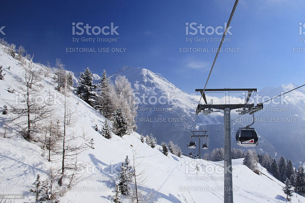 Cable car Gaislachkogl I in Solden royalty-free stock photo