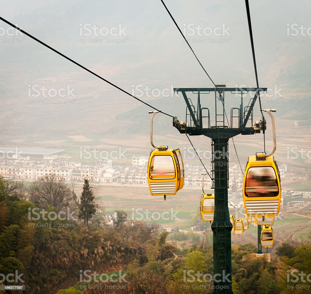 Cable Car in Grindelwald, Bern Canton, Switzerland royalty-free stock photo