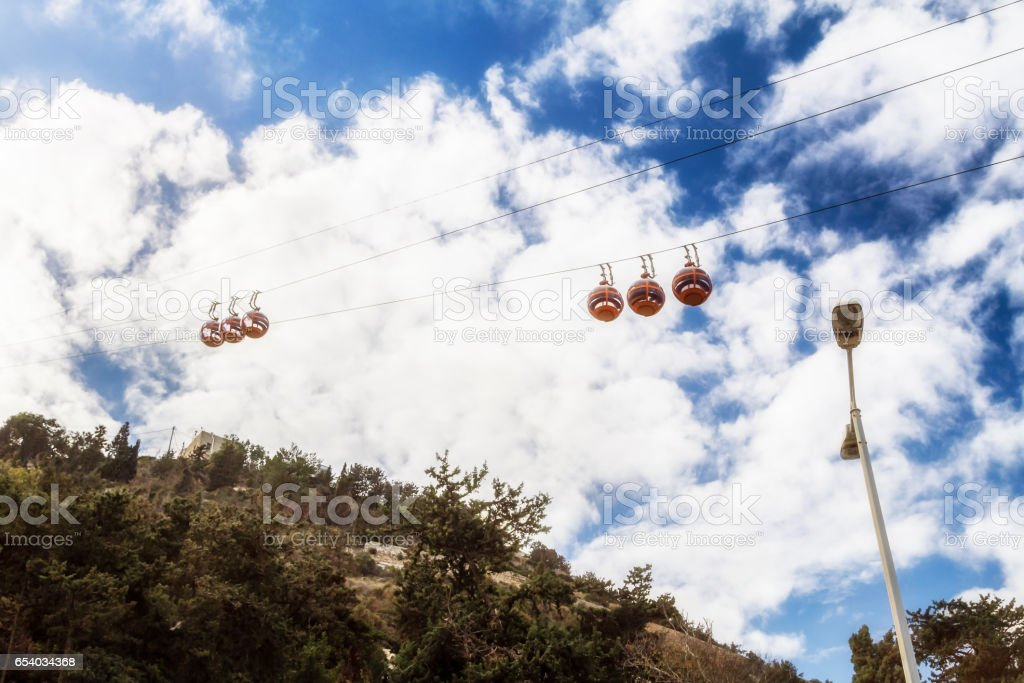 Cable Car in Haifa, Israel stock photo