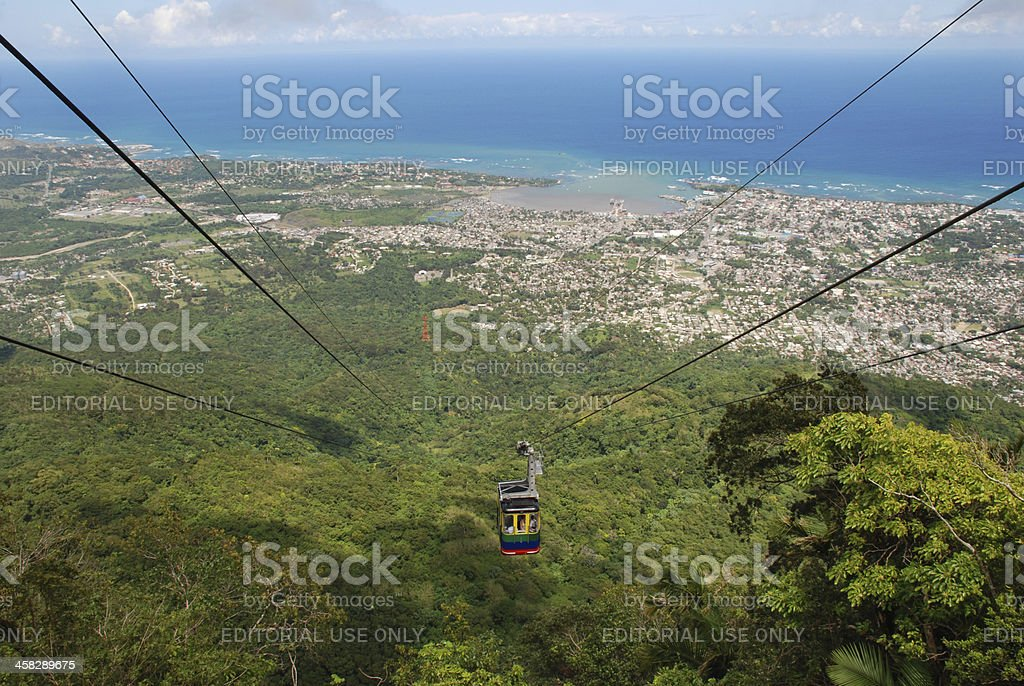 Cable Car in Puerto Plata, Dominican Republic royalty-free stock photo