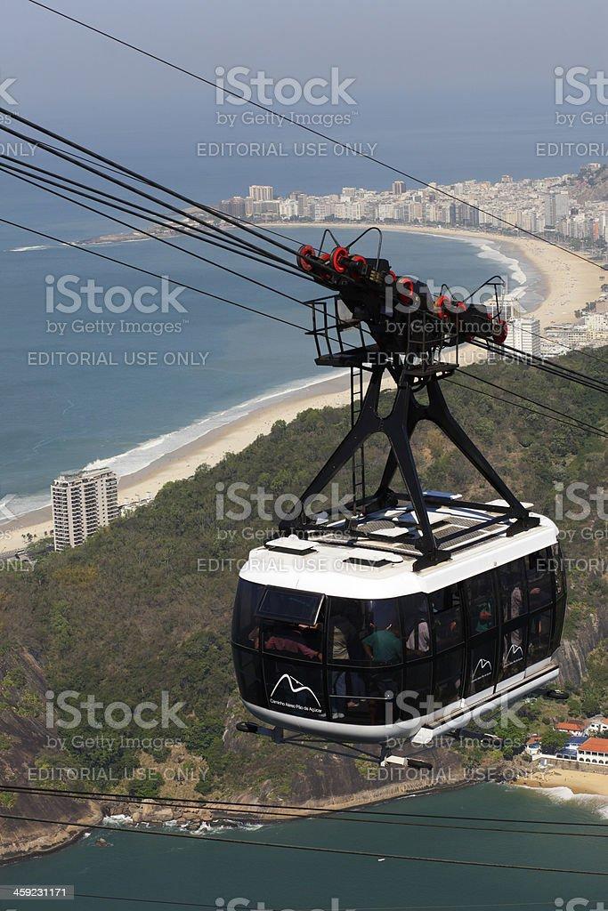 Cable Car in Rio de Janeiro royalty-free stock photo