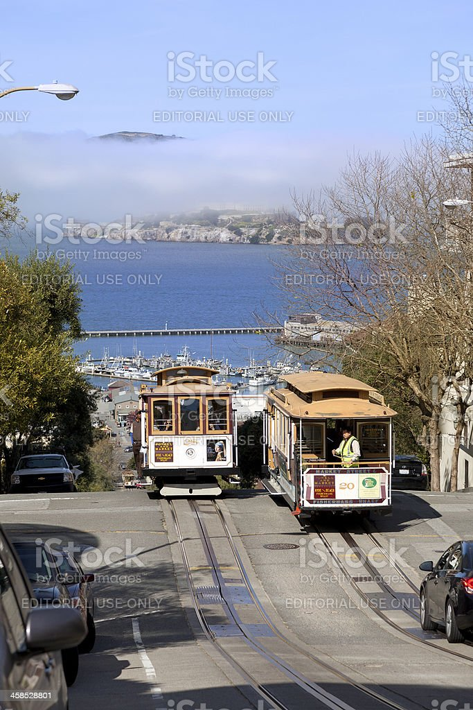 Cable Car in San Francisco, California. royalty-free stock photo