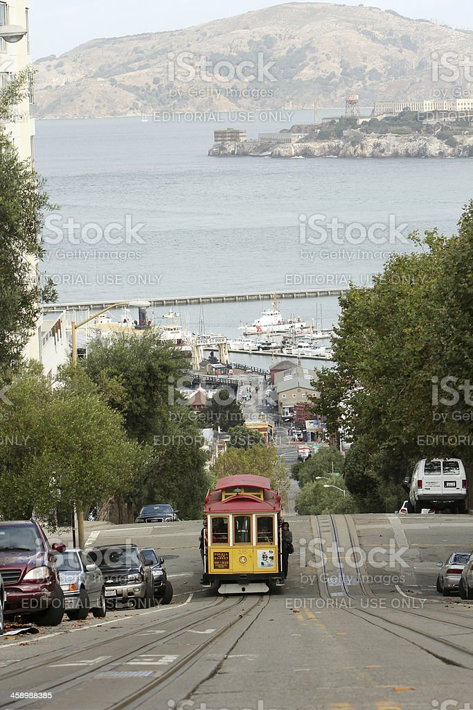 Cable Car in San Francisco, California royalty-free stock photo