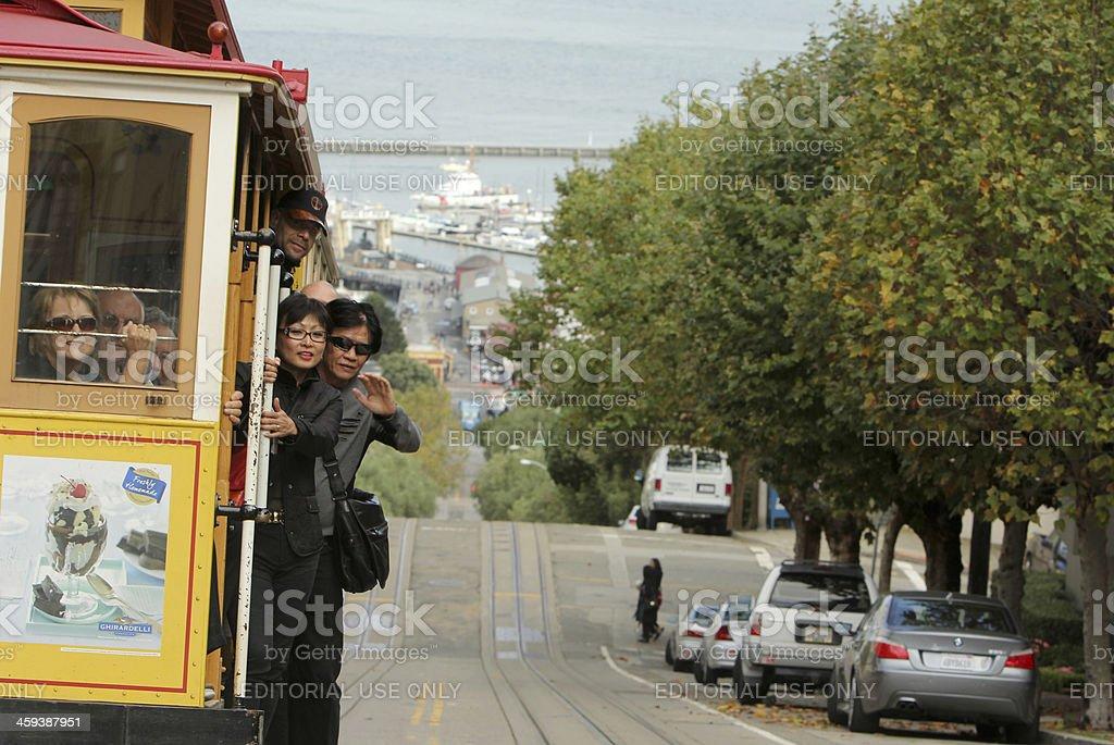 Cable Car in San Francisco, California royalty-free stock photo