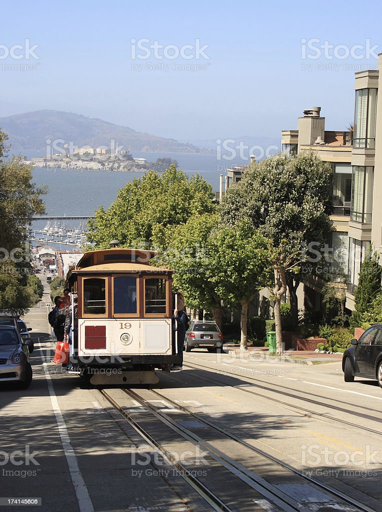 Cable Car in San Francisco royalty-free stock photo