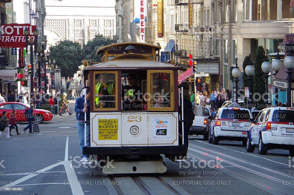 Tranvía de San Francisco foto de stock libre de derechos