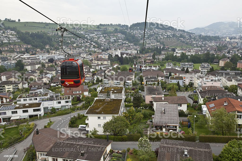 Cable Car in Switzerland royalty-free stock photo