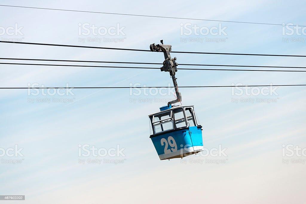 Cable Car in the Casa de Campo in Madrid stock photo
