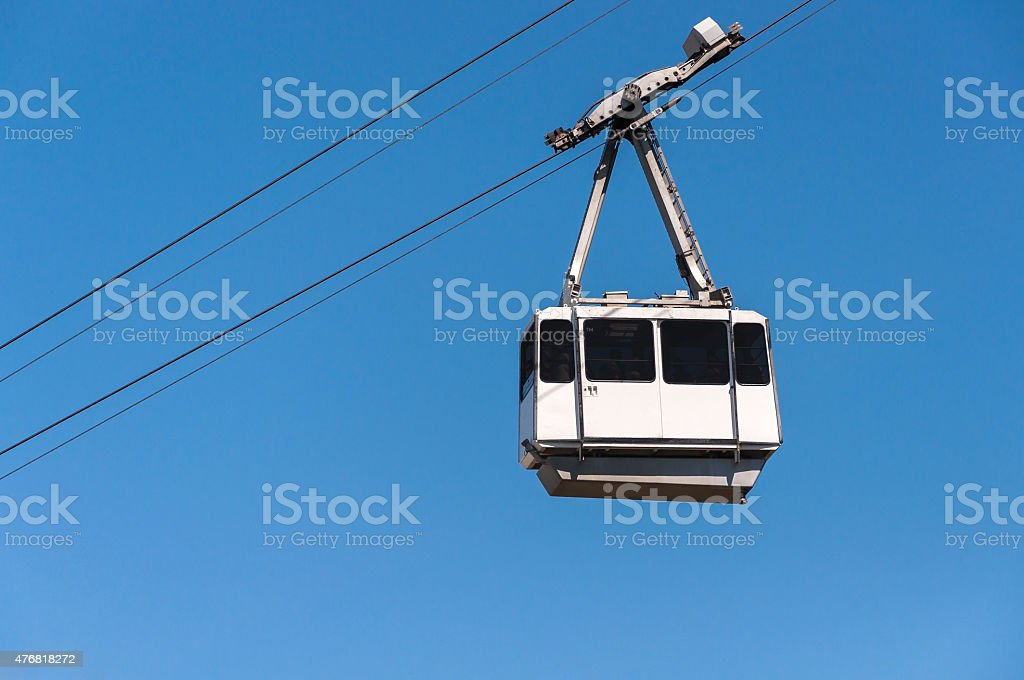 Cable car in the city of Gibraltar stock photo