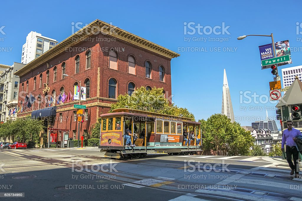 Cable Car intersect stock photo