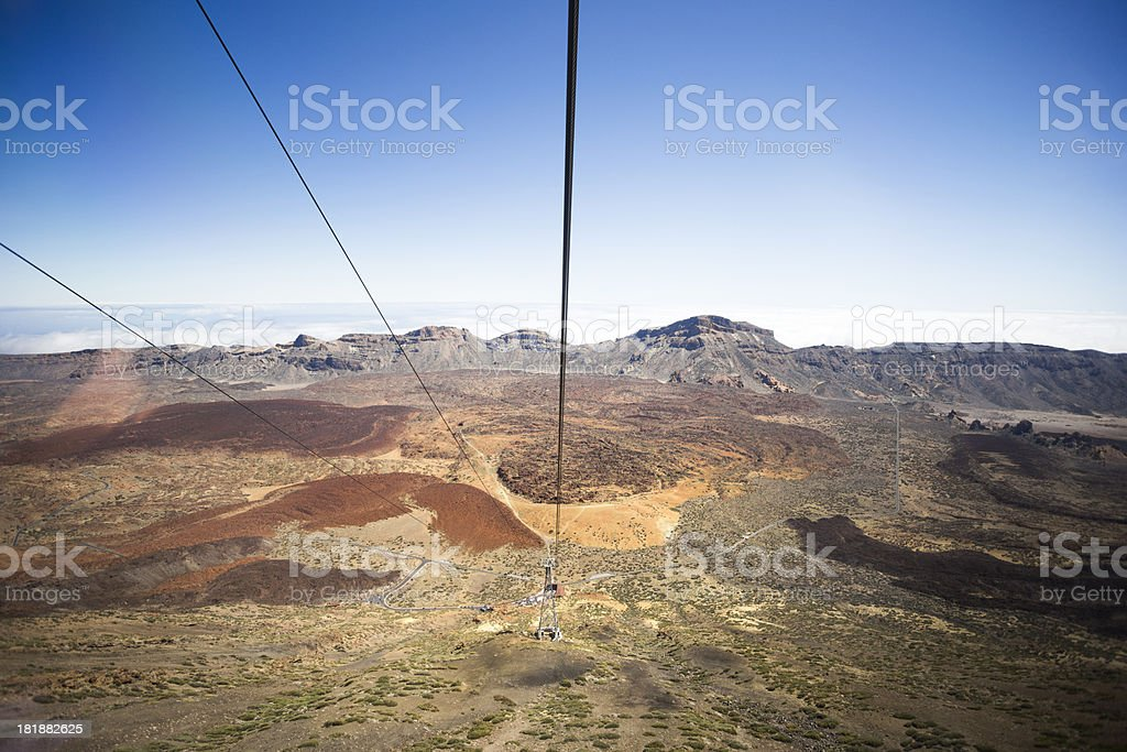 Cable Car, Mount Teide royalty-free stock photo