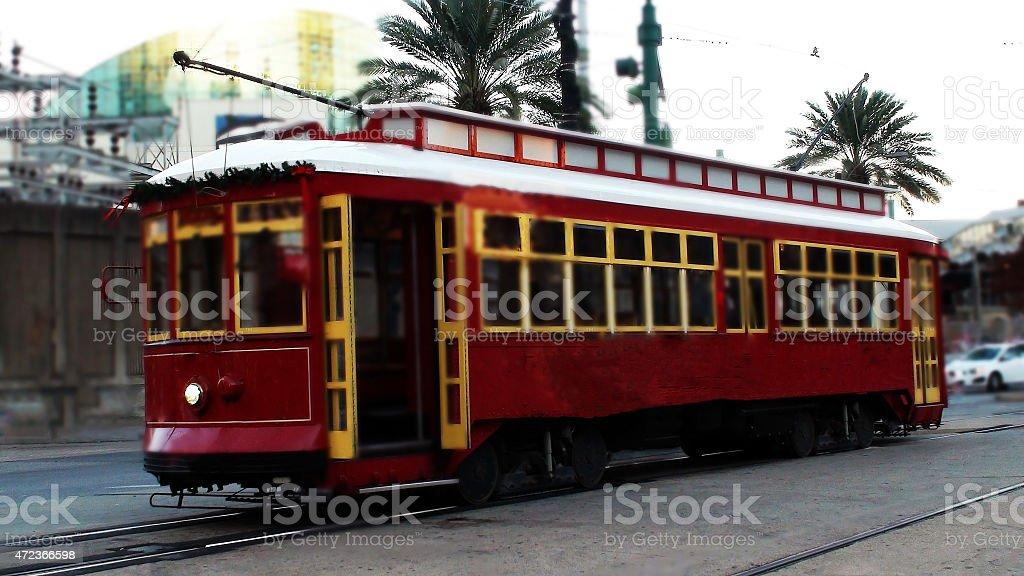 Cable Car, New Orleans, Louisiana USA stock photo