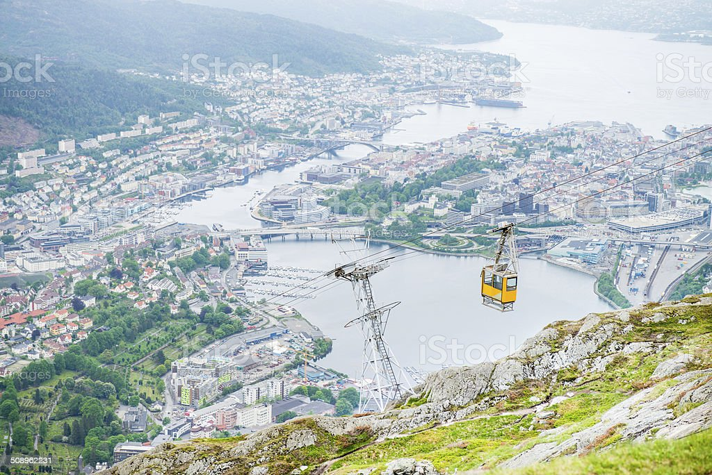 Cable Car, Norway stock photo