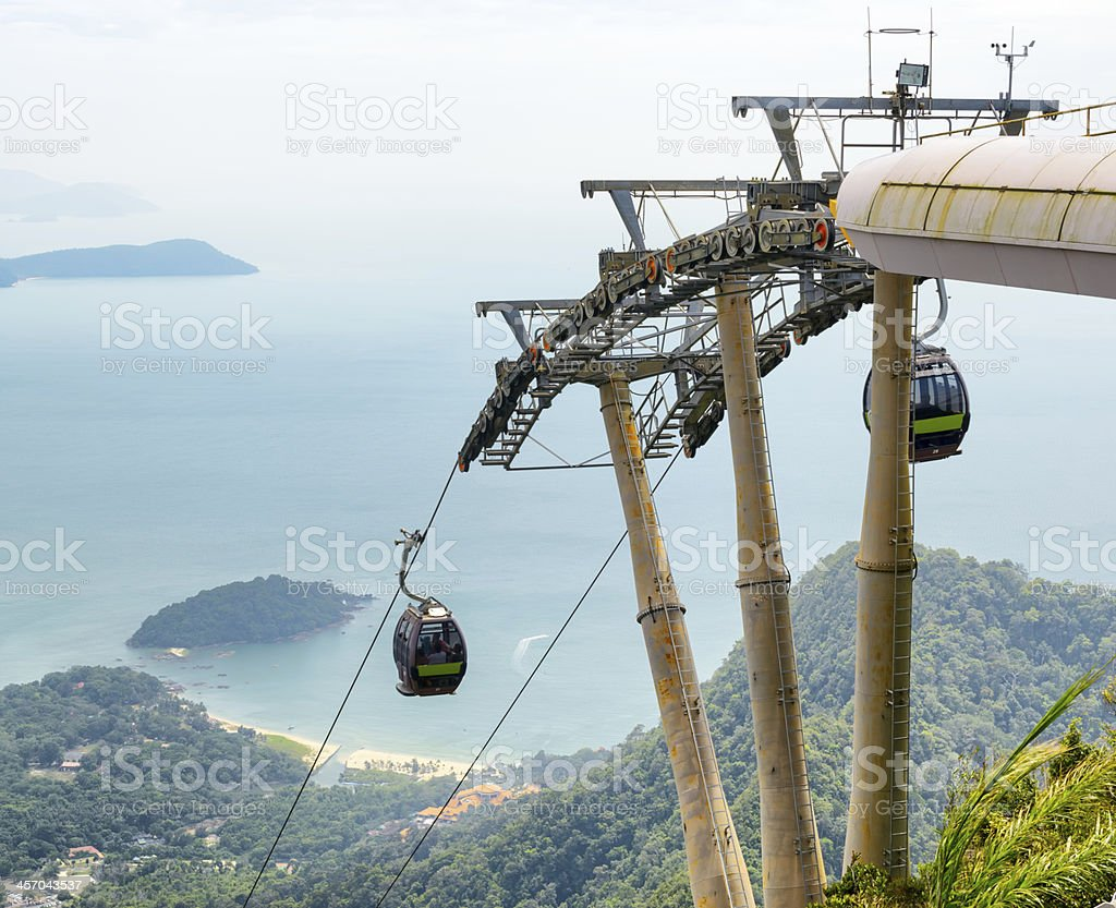 Cable car on Langkawi Island, Malaysia stock photo