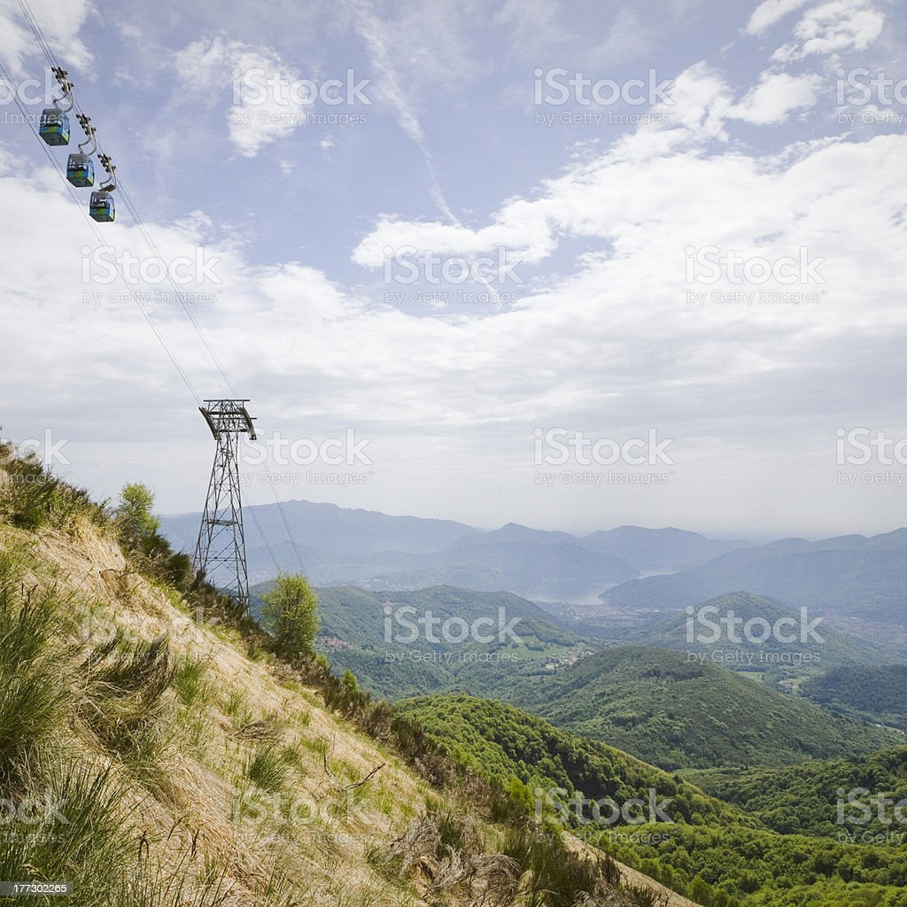 cable car on mount lema royalty-free stock photo
