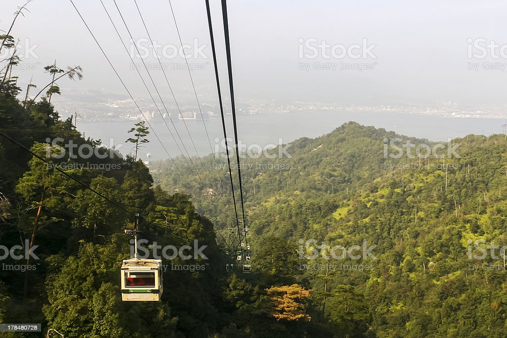 Cable Car on Mount Misen, Miyajima Island stock photo