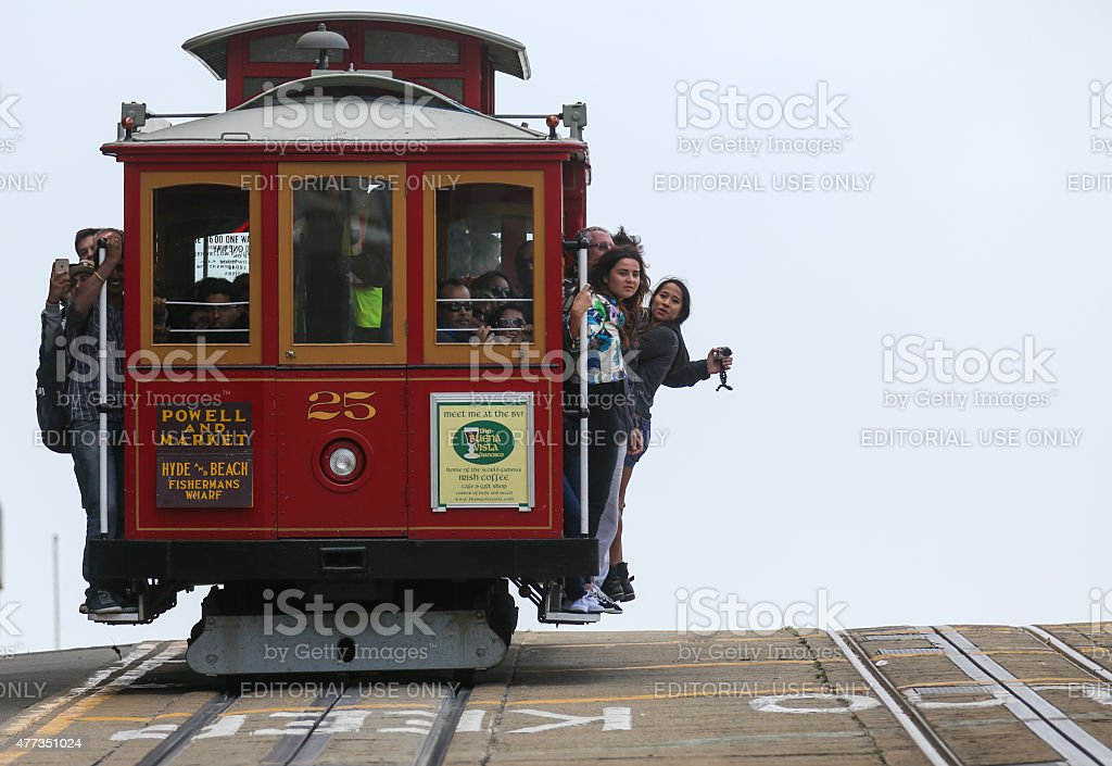 Cable Car on Powell Street in San Francisco stock photo