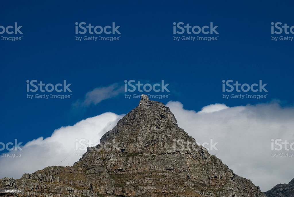 Cable Car on Table Mountain royalty-free stock photo