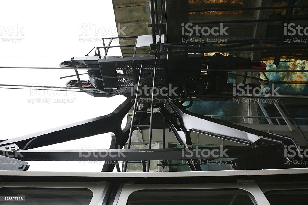 Cable Car Pulley System stock photo