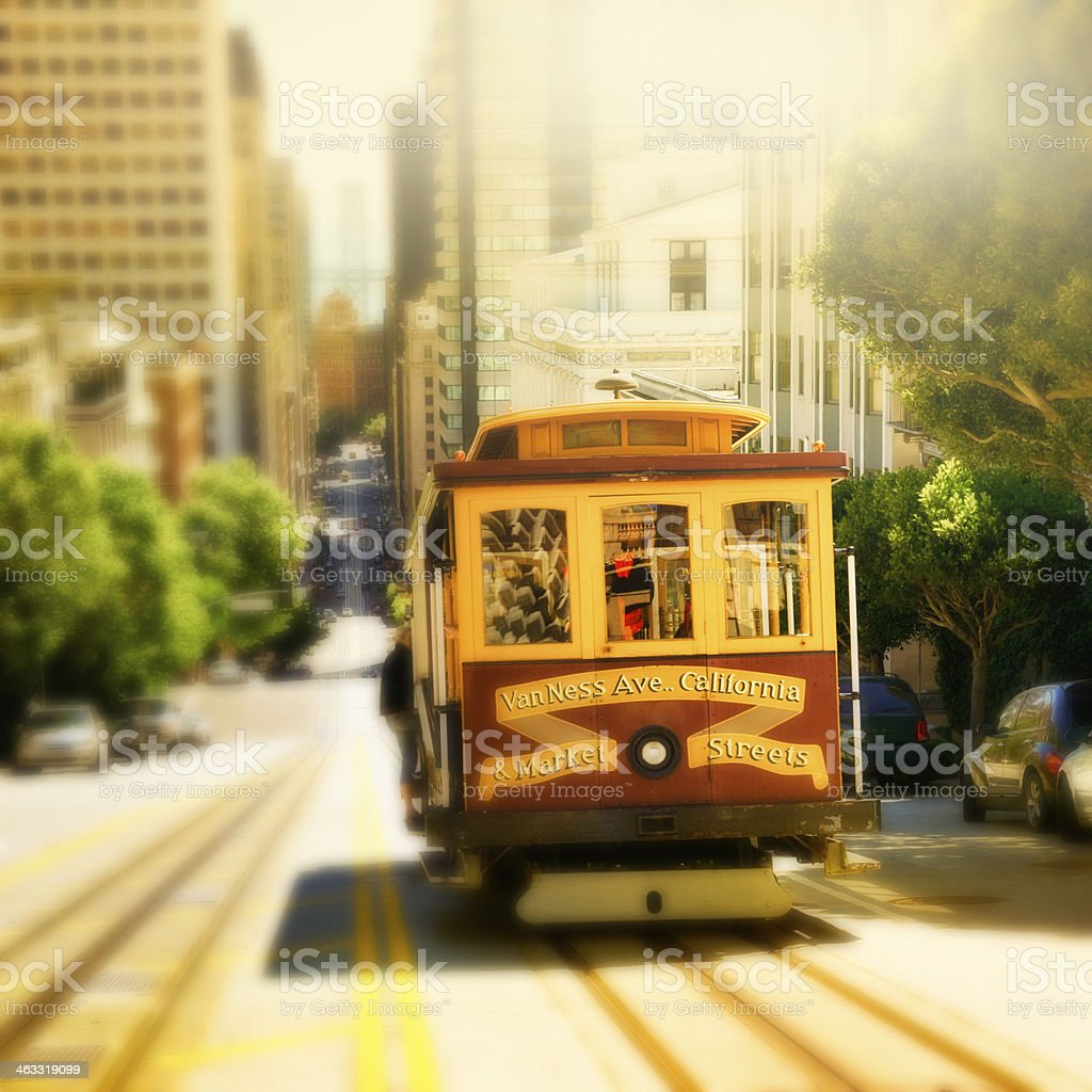Cable Car, San Francisco. stock photo