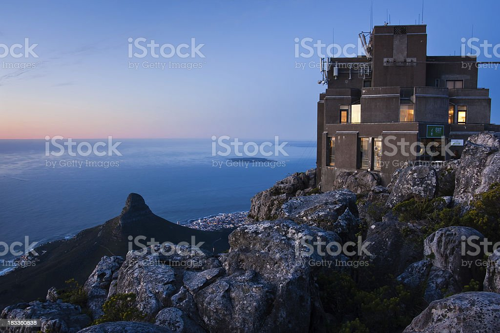 Cable Car Station on Top of Table Mountain stock photo