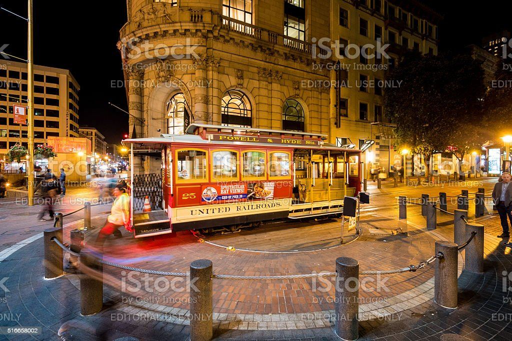 Cable Car System in San Francisco, California stock photo