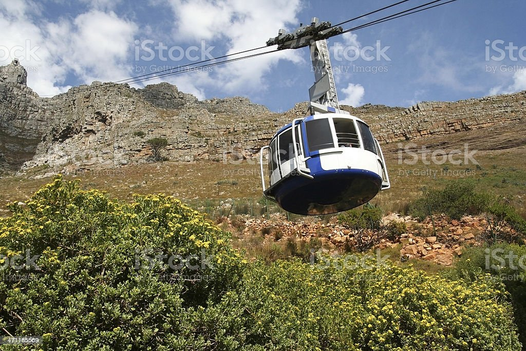Cable Car Table Mountain Cape Town royalty-free stock photo
