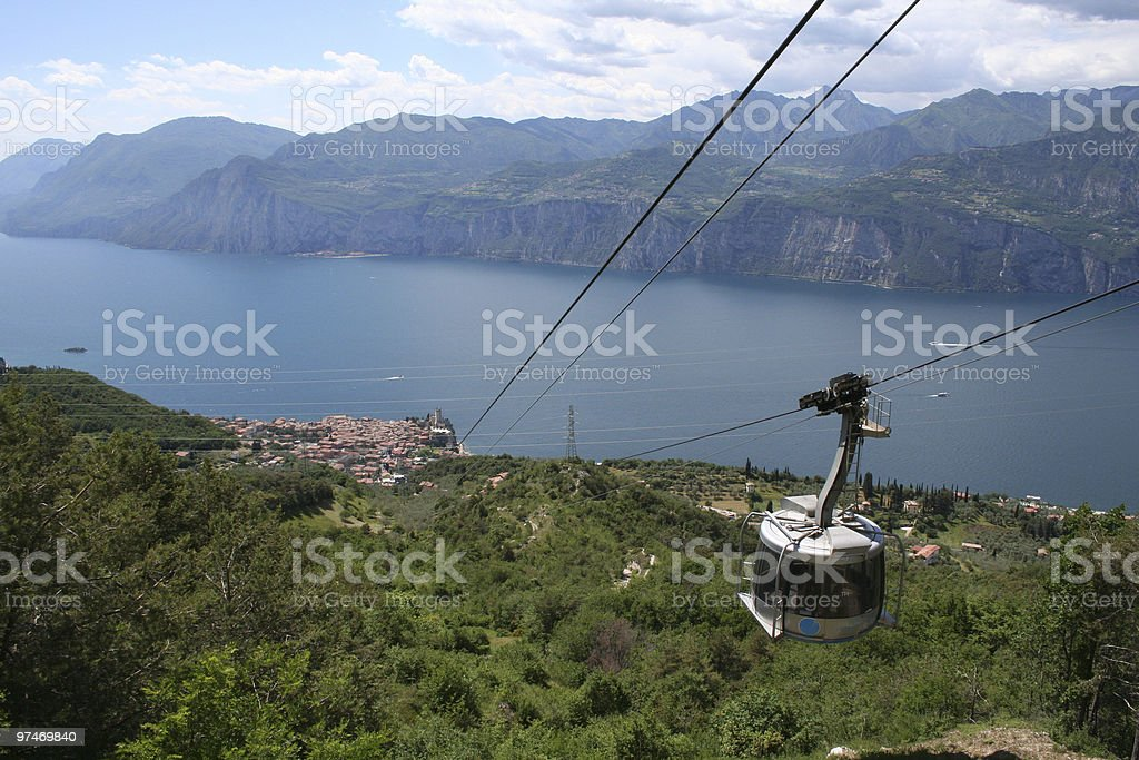 Cable Car to Malcesine. royalty-free stock photo
