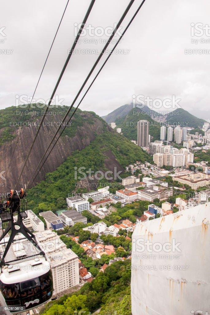 Cable car to Sugar Loaf - Rio de Janeiro stock photo